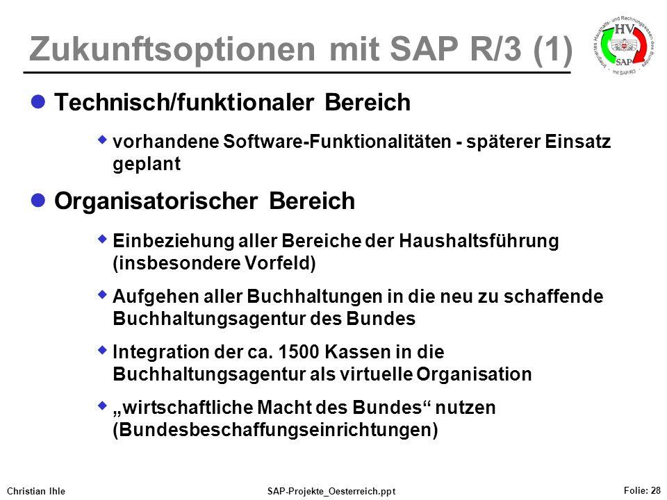 Zukunftsoptionen mit SAP R/3 (1)