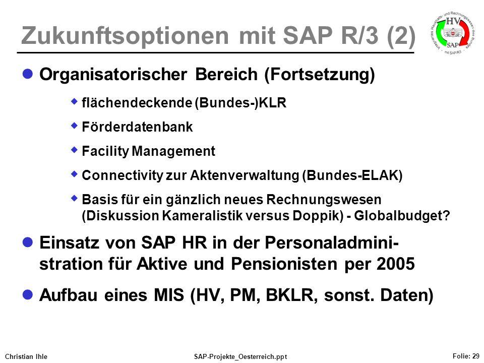 Zukunftsoptionen mit SAP R/3 (2)
