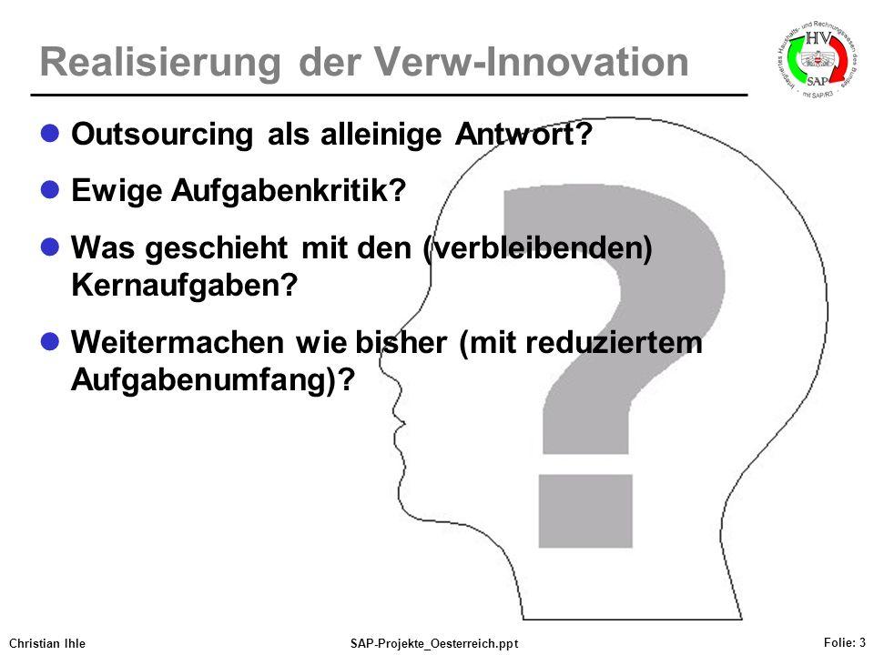 Realisierung der Verw-Innovation