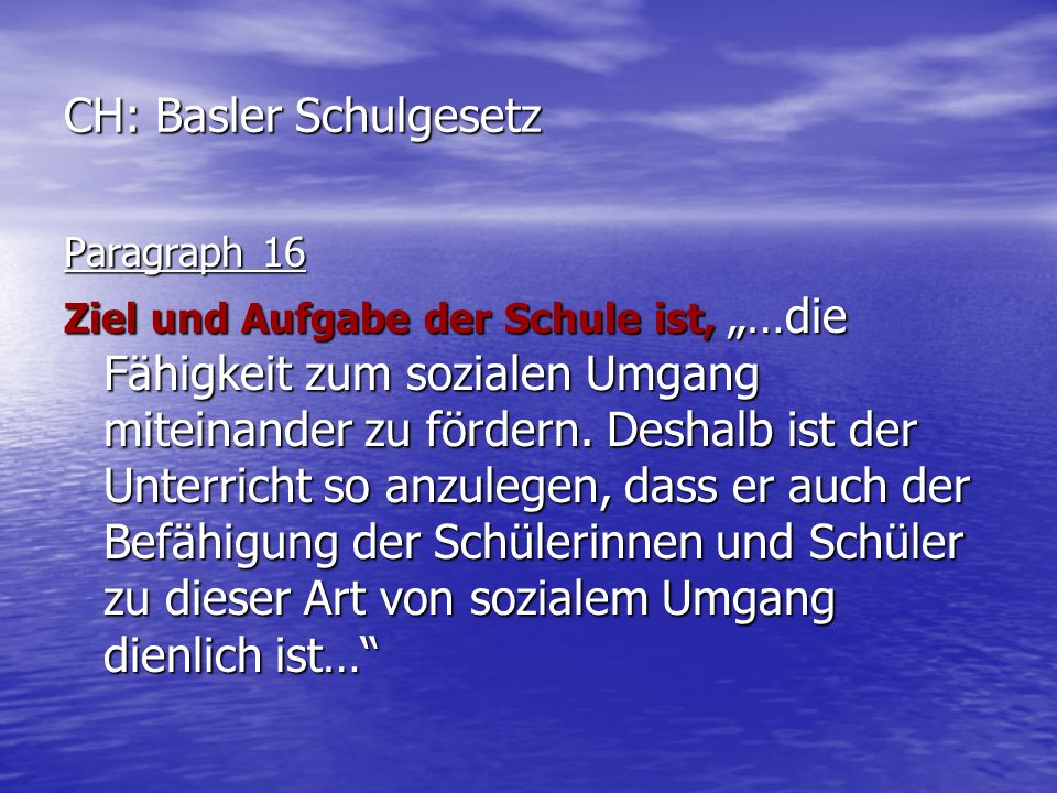 CH: Basler Schulgesetz