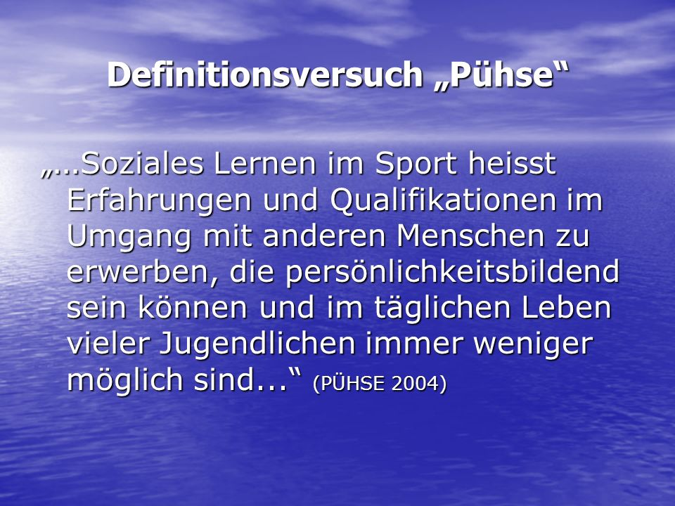 "Definitionsversuch ""Pühse"