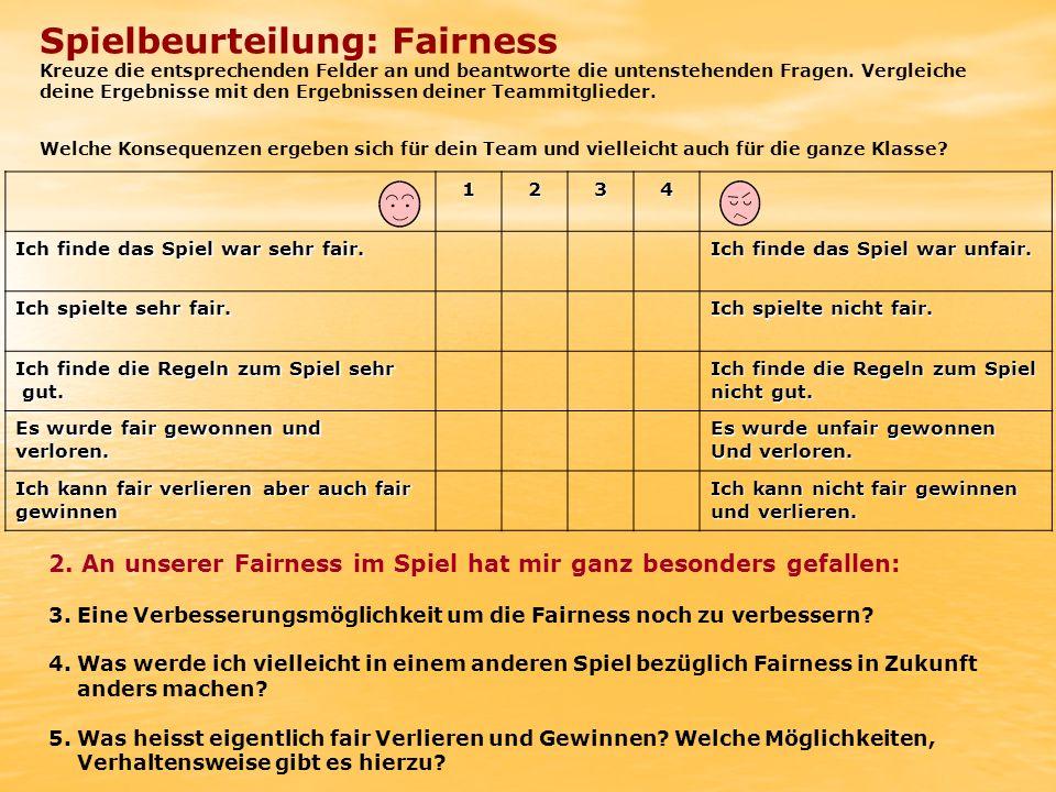 Spielbeurteilung: Fairness
