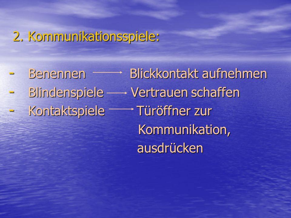 2. Kommunikationsspiele: