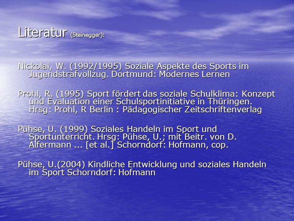 Literatur (Steinegger):