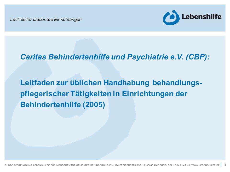 Caritas Behindertenhilfe und Psychiatrie e.V. (CBP):