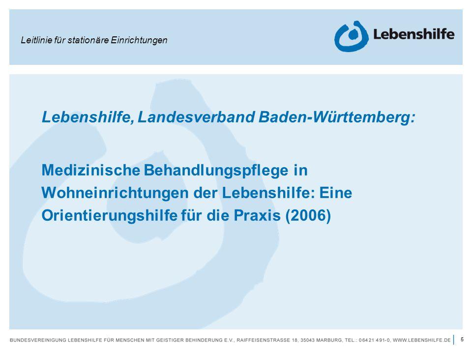 Lebenshilfe, Landesverband Baden-Württemberg: