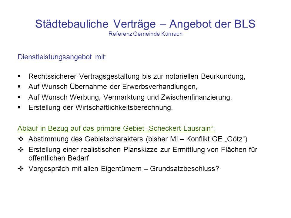 Städtebauliche Verträge – Angebot der BLS Referenz Gemeinde Kürnach