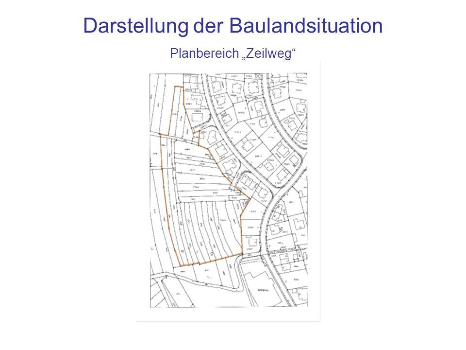 """Darstellung der Baulandsituation Planbereich """"Zeilweg"""