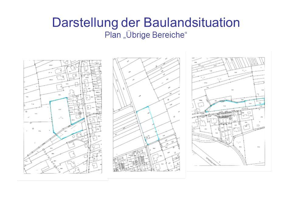"""Darstellung der Baulandsituation Plan """"Übrige Bereiche"""