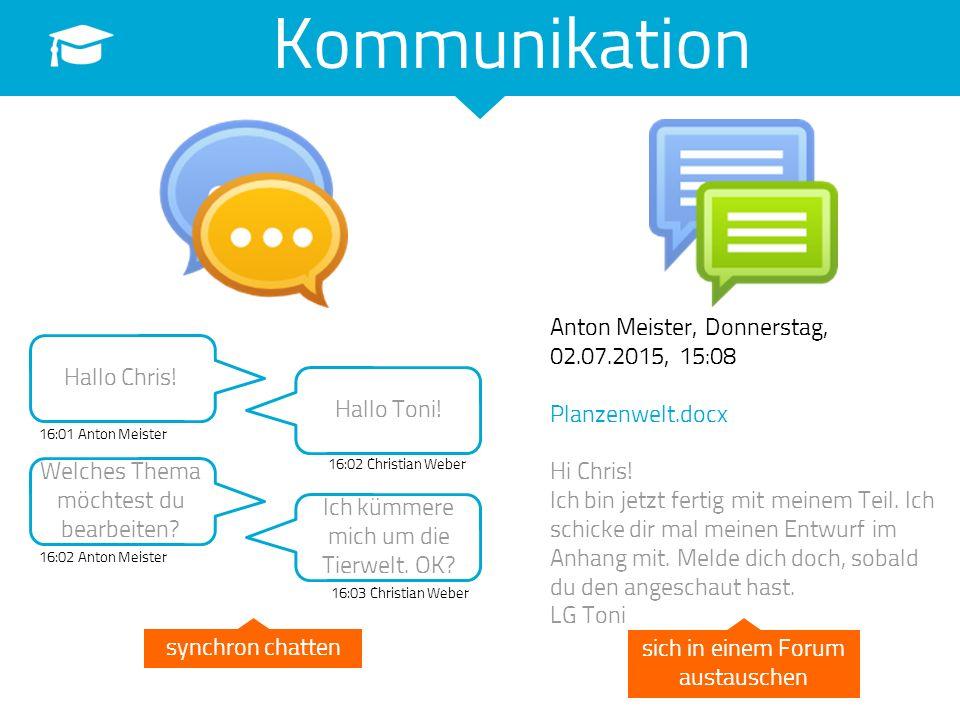 Kommunikation Anton Meister, Donnerstag, 02.07.2015, 15:08