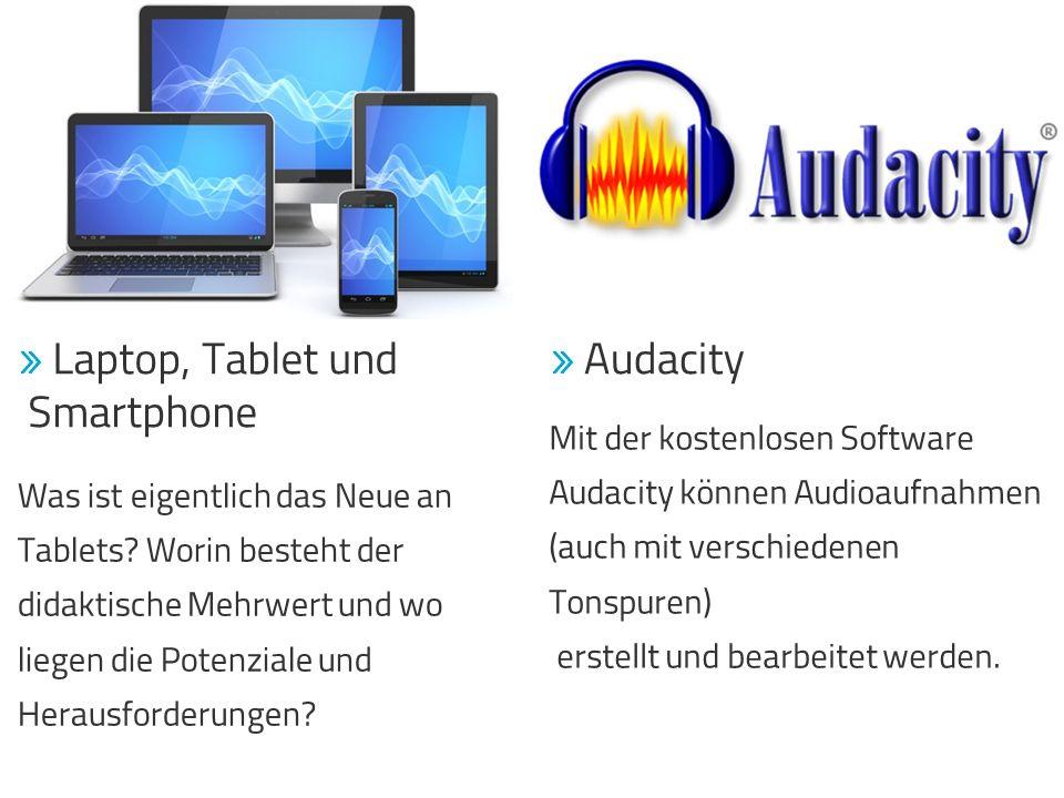 Smartphone Mit der kostenlosen Software Audacity können Audioaufnahmen