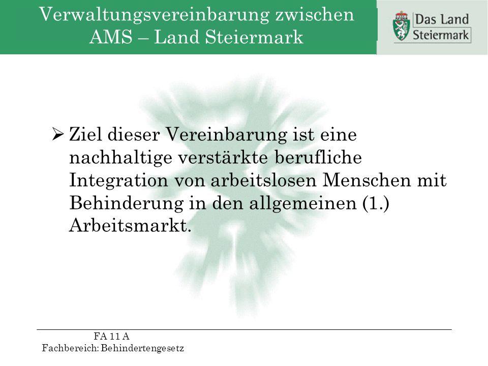 Verwaltungsvereinbarung zwischen AMS – Land Steiermark