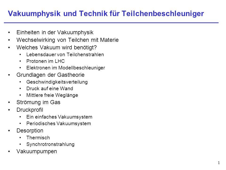 Vakuumphysik und Technik für Teilchenbeschleuniger