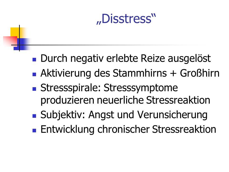 """""""Disstress Durch negativ erlebte Reize ausgelöst"""