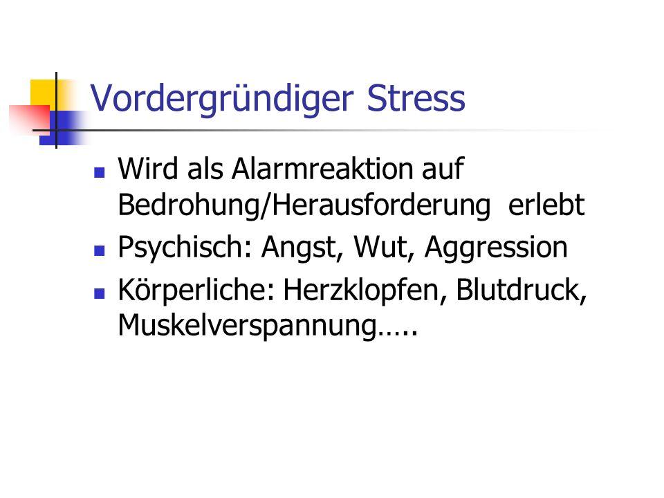 Vordergründiger Stress