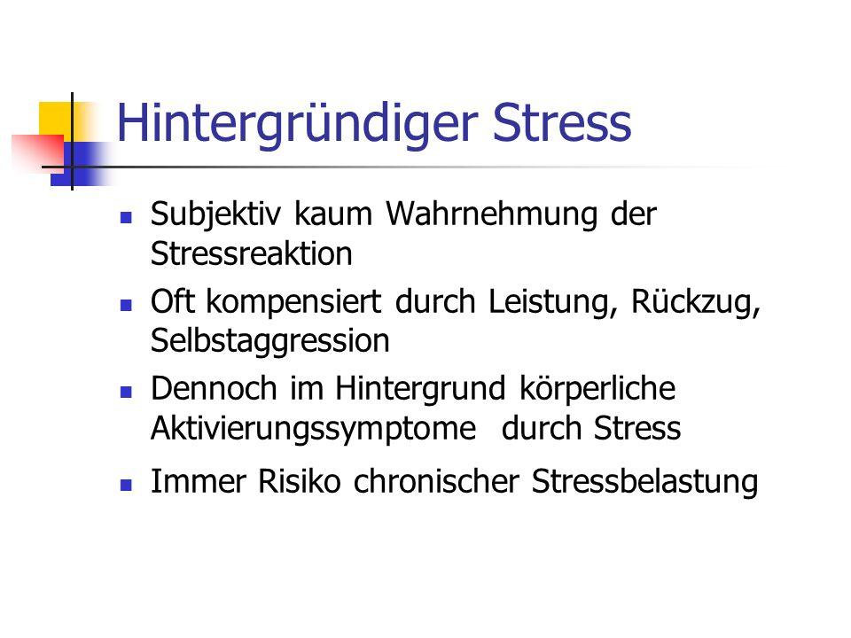 Hintergründiger Stress