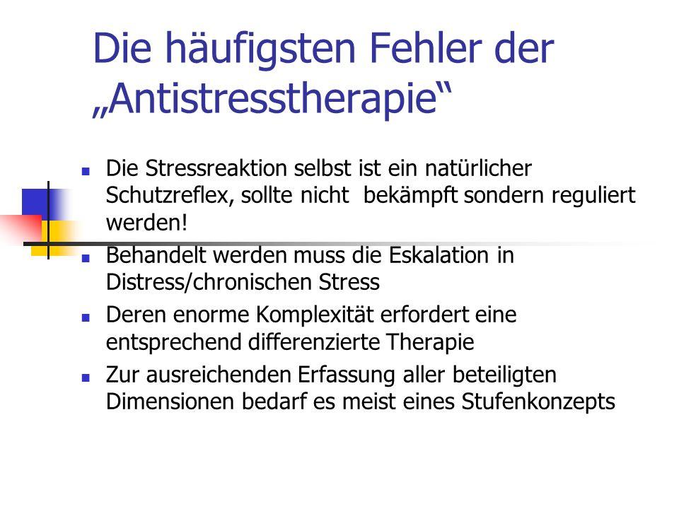 """Die häufigsten Fehler der """"Antistresstherapie"""