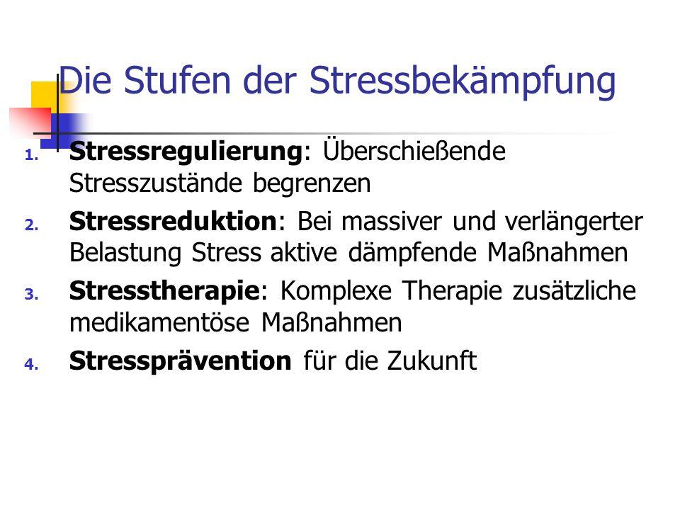 Die Stufen der Stressbekämpfung
