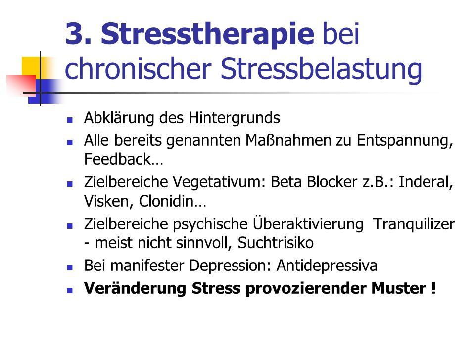 3. Stresstherapie bei chronischer Stressbelastung