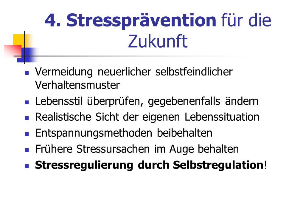 4. Stressprävention für die Zukunft