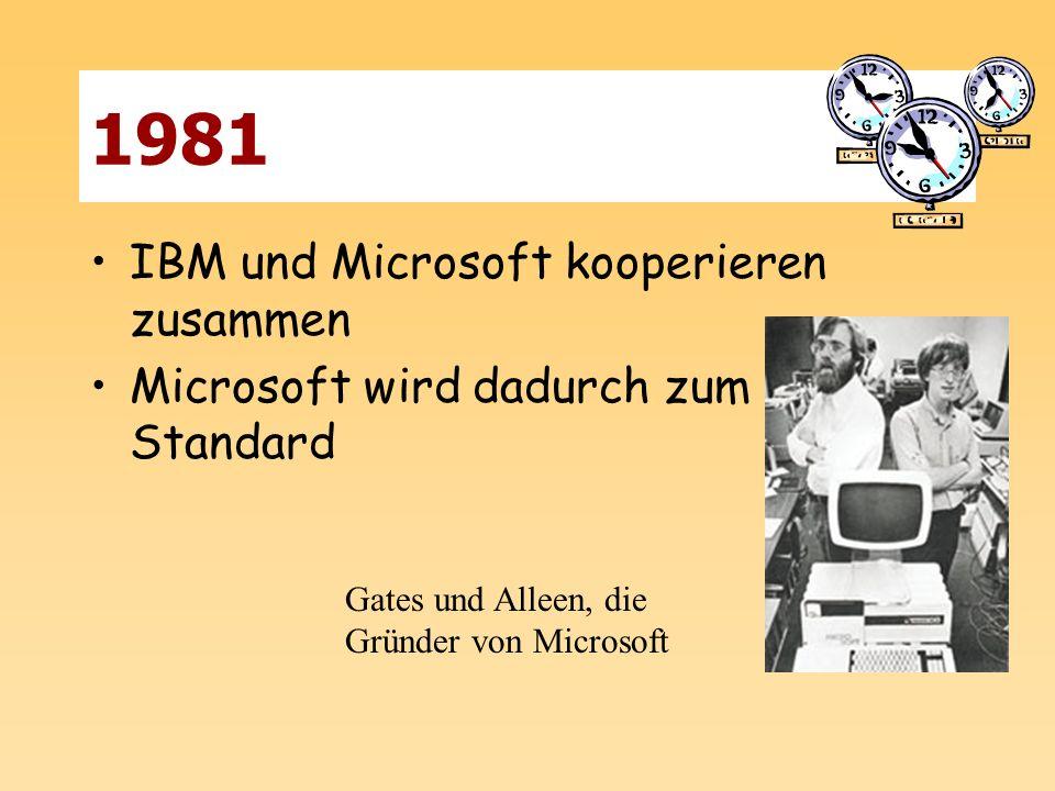 1981 IBM und Microsoft kooperieren zusammen