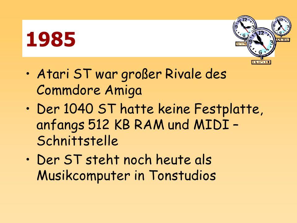 1985 Atari ST war großer Rivale des Commdore Amiga