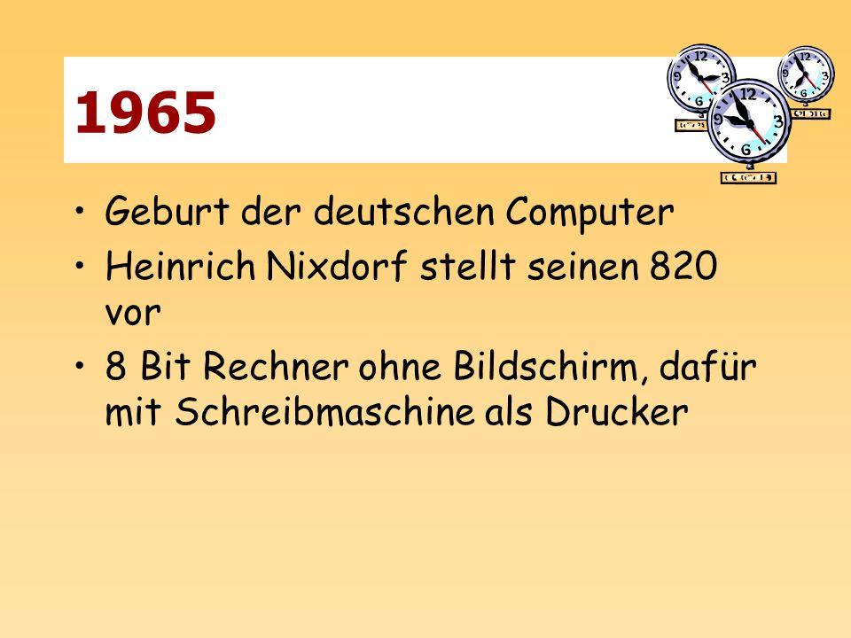 1965 Geburt der deutschen Computer
