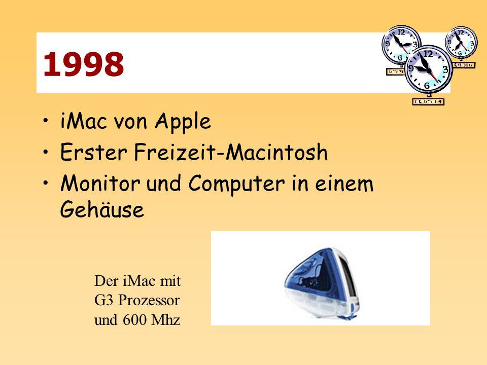 1998 iMac von Apple Erster Freizeit-Macintosh