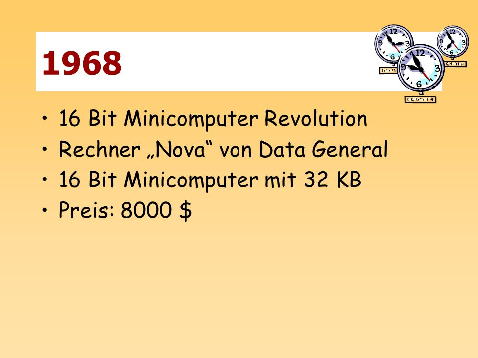 "1968 16 Bit Minicomputer Revolution Rechner ""Nova von Data General"