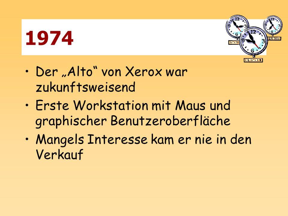 """1974 Der """"Alto von Xerox war zukunftsweisend"""