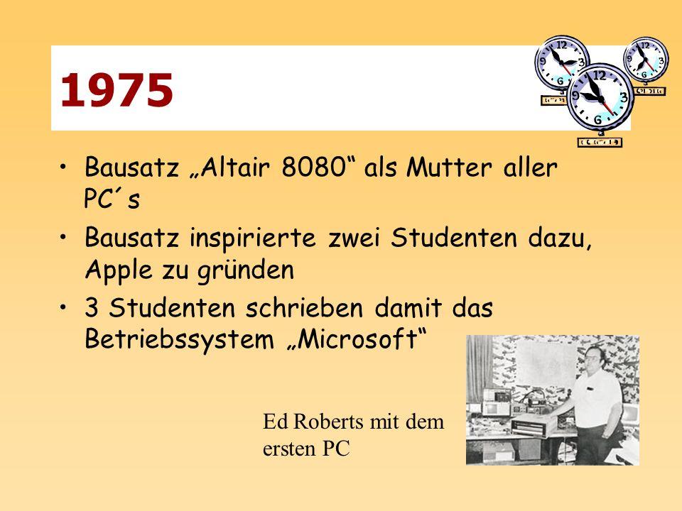 """1975 Bausatz """"Altair 8080 als Mutter aller PC´s"""