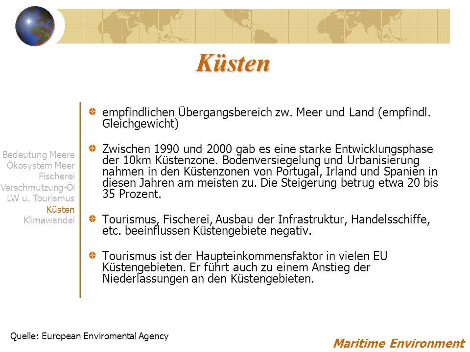 Küsten empfindlichen Übergangsbereich zw. Meer und Land (empfindl. Gleichgewicht)