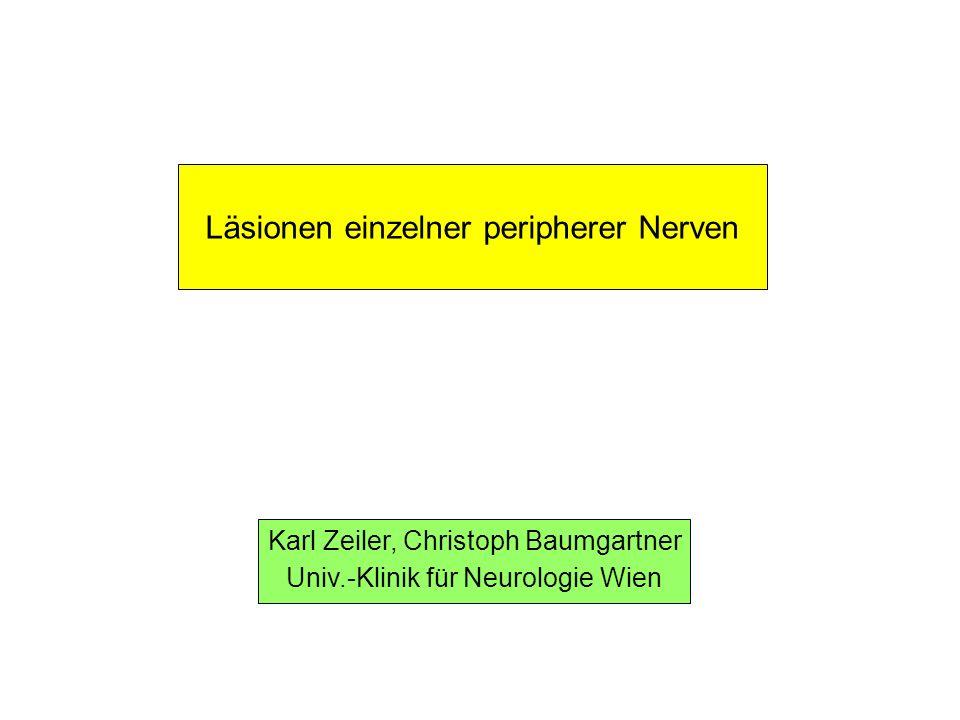 Läsionen einzelner peripherer Nerven