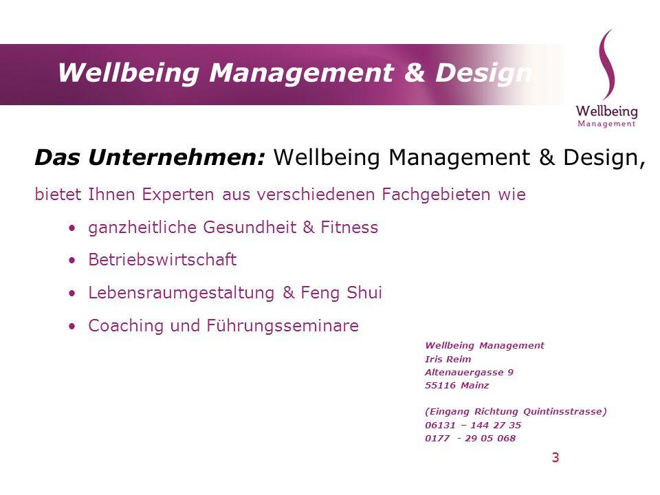 Wellbeing Management & Design