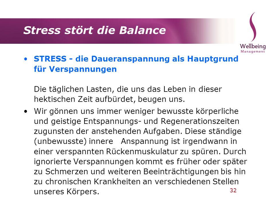 Stress stört die Balance
