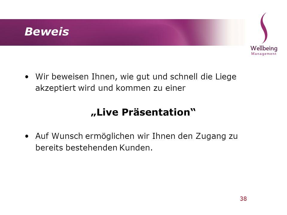 "Beweis ""Live Präsentation"