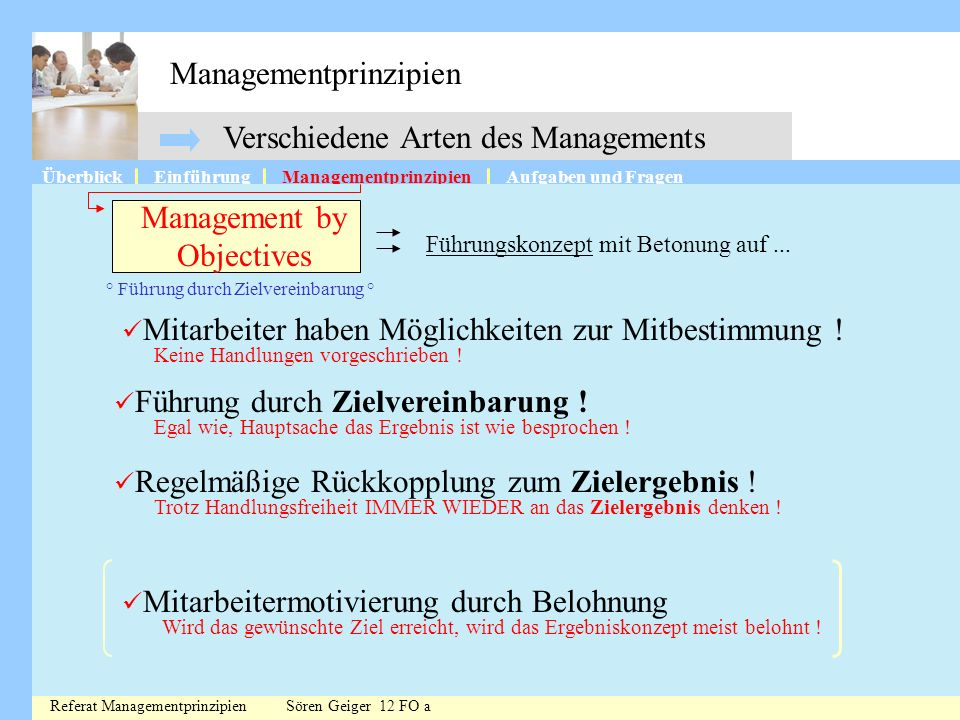Managementprinzipien
