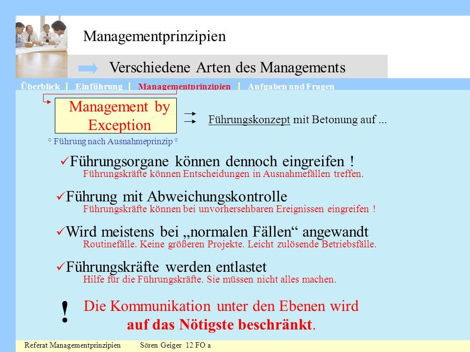 ! Managementprinzipien Verschiedene Arten des Managements