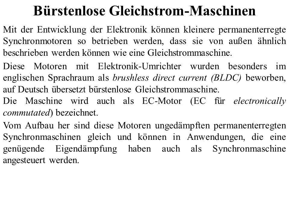Bürstenlose Gleichstrom-Maschinen