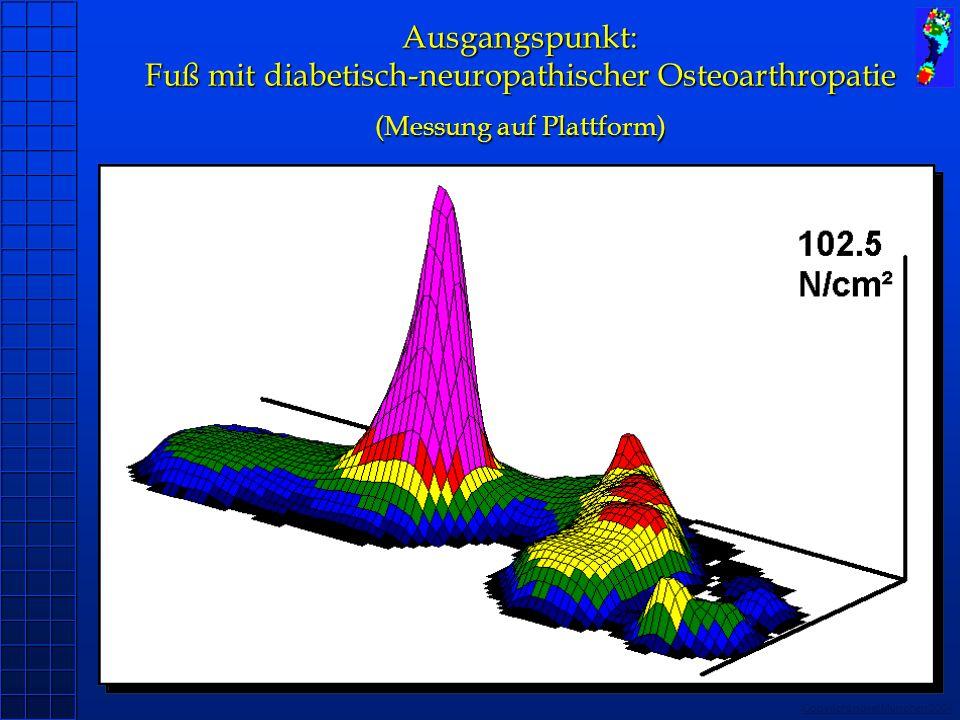 Ausgangspunkt: Fuß mit diabetisch-neuropathischer Osteoarthropatie (Messung auf Plattform)