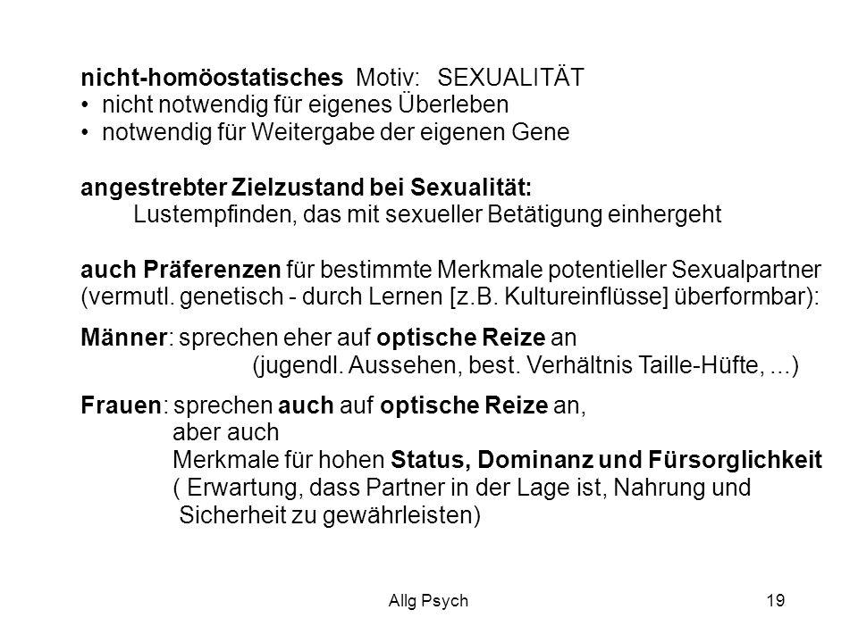 nicht-homöostatisches Motiv: SEXUALITÄT