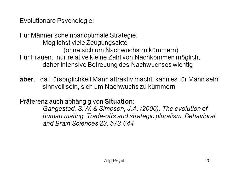 Evolutionäre Psychologie: Für Männer scheinbar optimale Strategie: