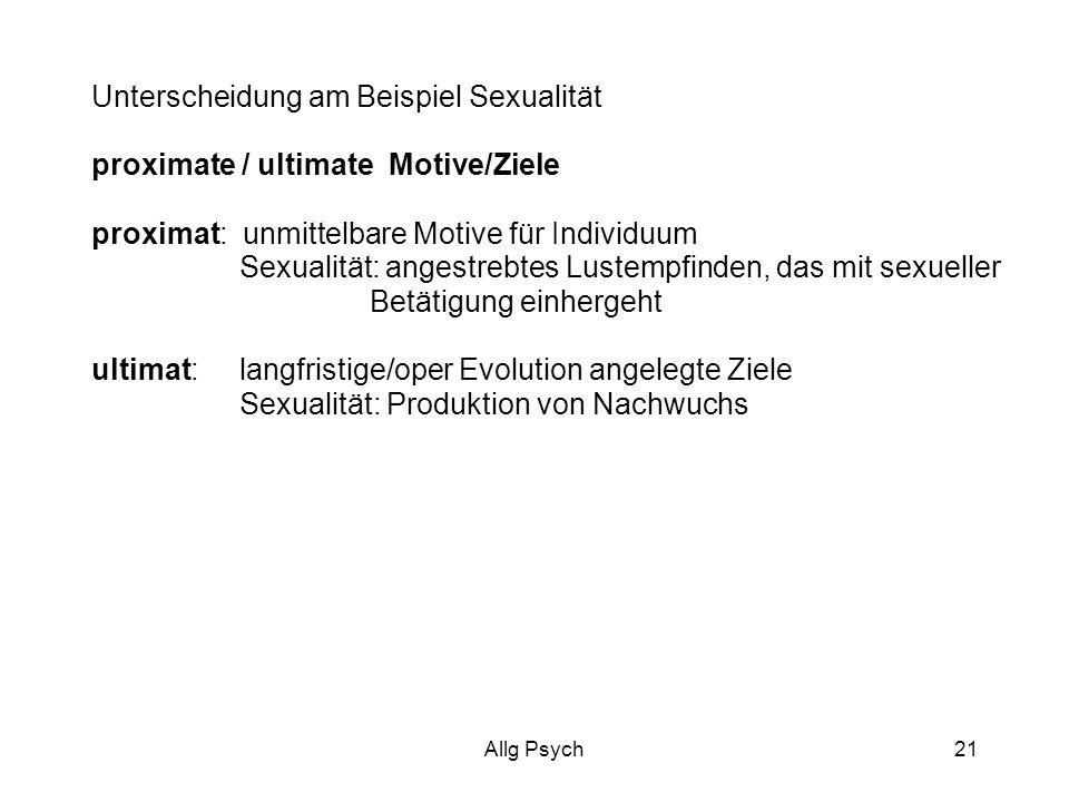 Unterscheidung am Beispiel Sexualität