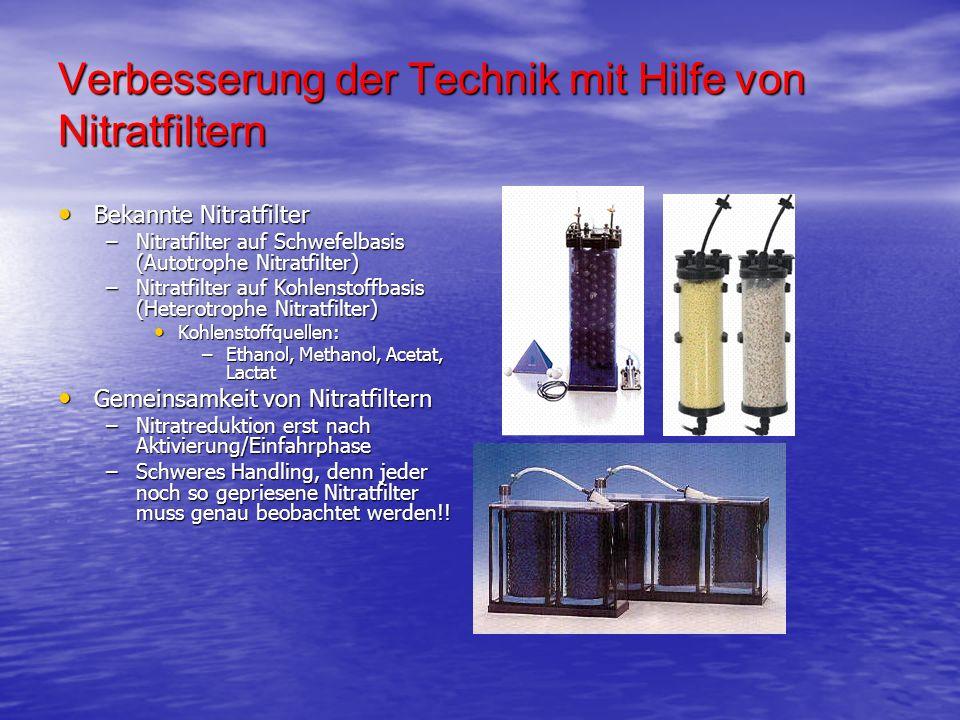 Verbesserung der Technik mit Hilfe von Nitratfiltern