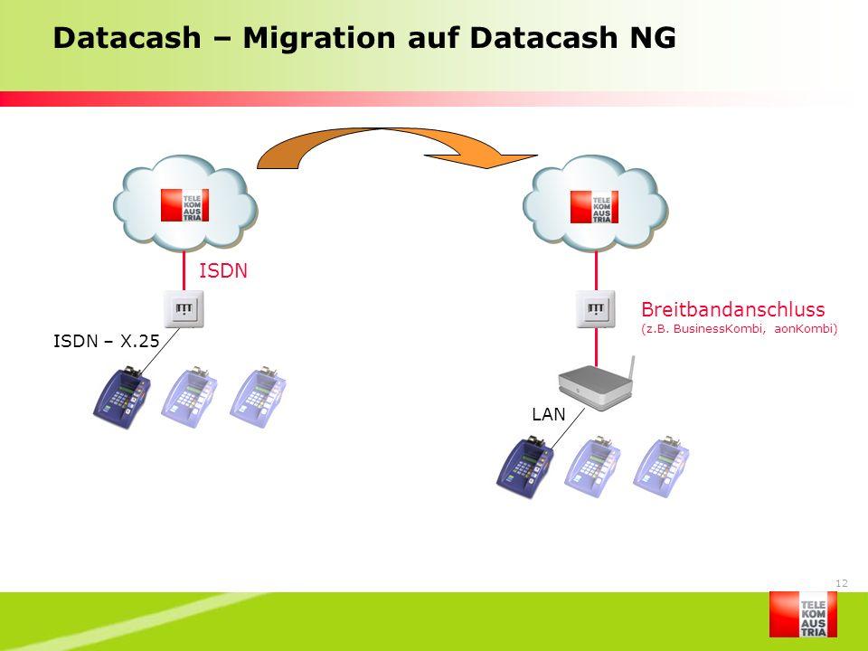 Datacash – Migration auf Datacash NG