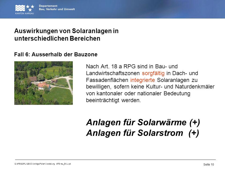 Auswirkungen von Solaranlagen in unterschiedlichen Bereichen