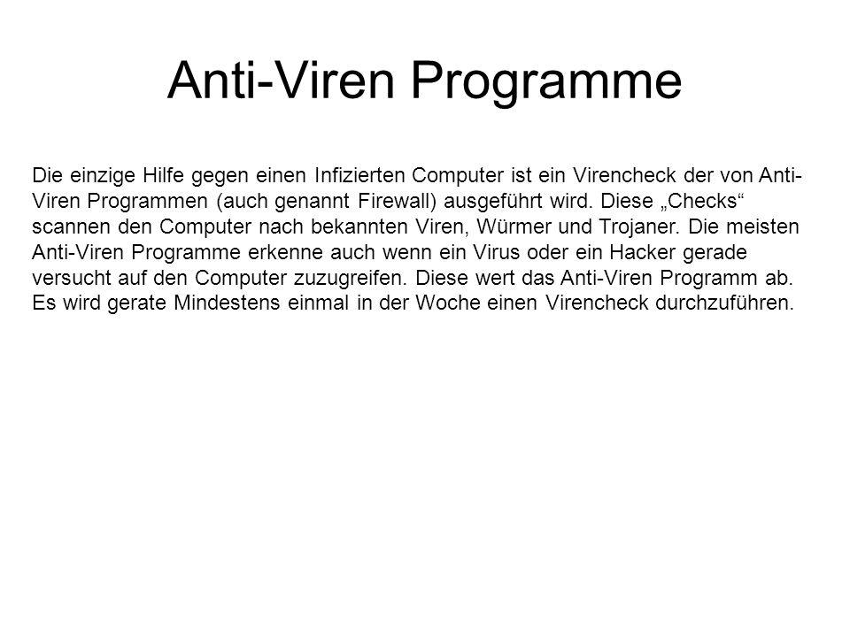 Anti-Viren Programme