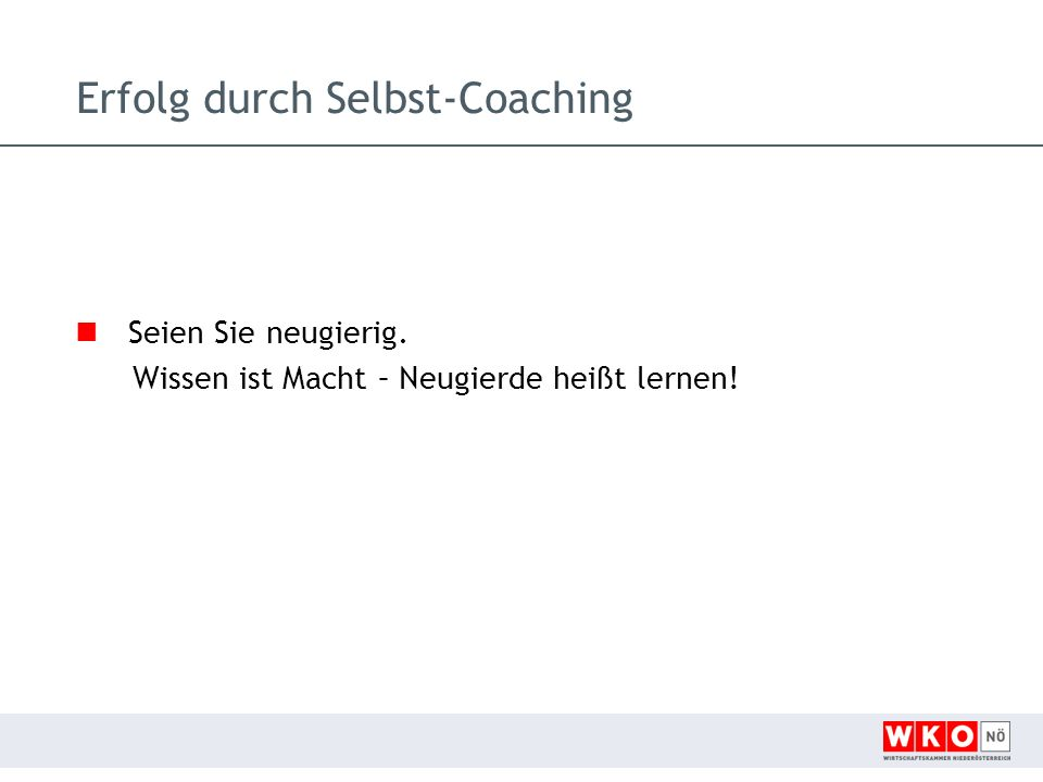Erfolg durch Selbst-Coaching