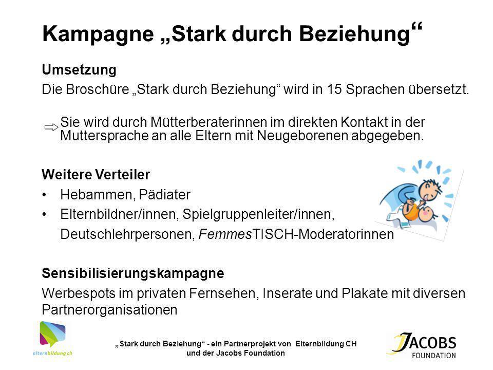 """Kampagne """"Stark durch Beziehung"""