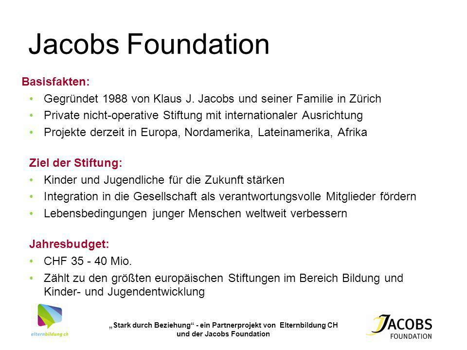Jacobs Foundation Basisfakten: